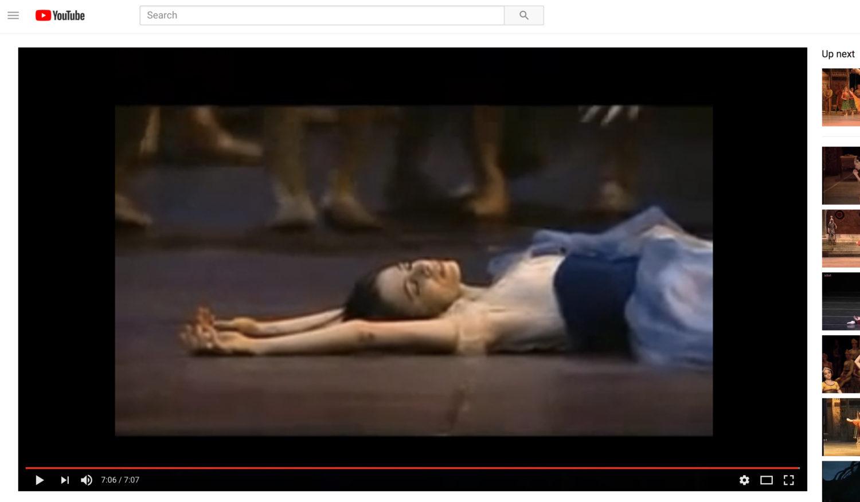 © Alessandra Ferri performing Giselle, screenshot